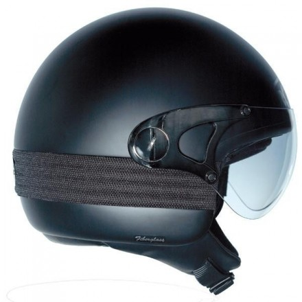 Casco Jet Roof Fever RO4 Half Face Nero Matt